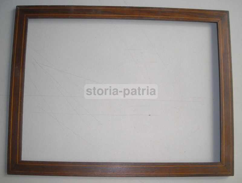Decorativa Antica Cornice, Filettatura Intarsiata, Utile Per Arte Varia, d'Epoca immagine 3