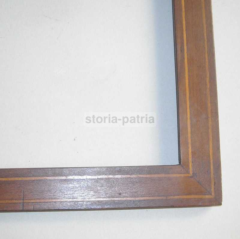 Decorativa Antica Cornice, Filettatura Intarsiata, Utile Per Arte Varia, d'Epoca immagine 6